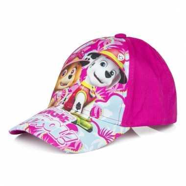 Paw patrol petje fuchsia roze voor meisjes