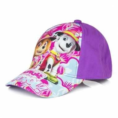 Paw patrol petje paars voor meisjes