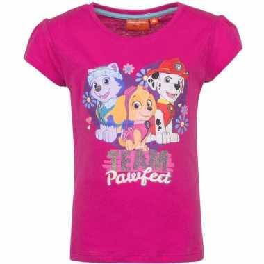 Paw patrol shirt roze meiden