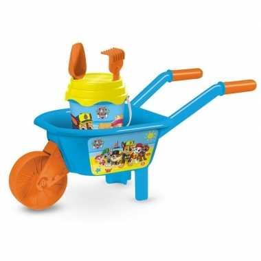 Paw patrol speelgoed kruiwagen zandbak setje 65 cm