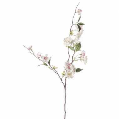 Peach blossom kunst tak 80 cm roze