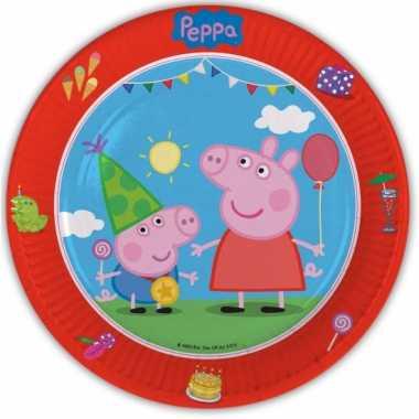 Peppa big feest bordjes 8 stuks