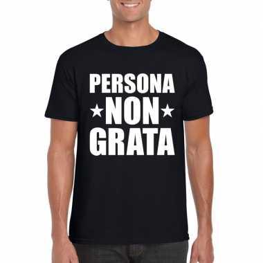 Persona non grata shirt zwart voor heren