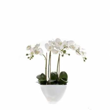 Phalaenopsis kunst plant in pot 50 cm roze