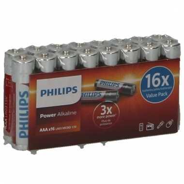 Philips aaa batterijen pakket 16 stuks