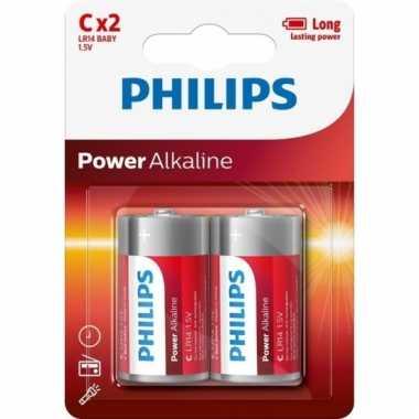 Philips powerlife batterijen lr14 c 2 stuks