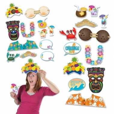 Photo booth prop accessoires strand thema tropisch