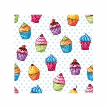 Picknick servetten cupcakes 20 stuks