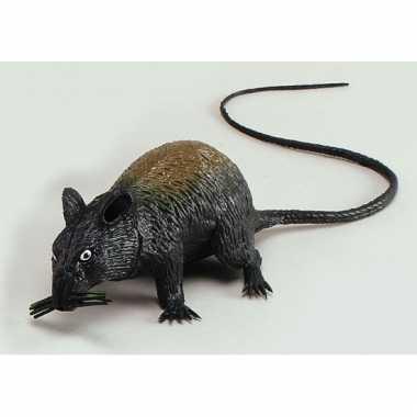 Piepende rat halloween decoratie 13 cm