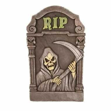 Piepschuim halloween grafsteen magere hein 60 cm
