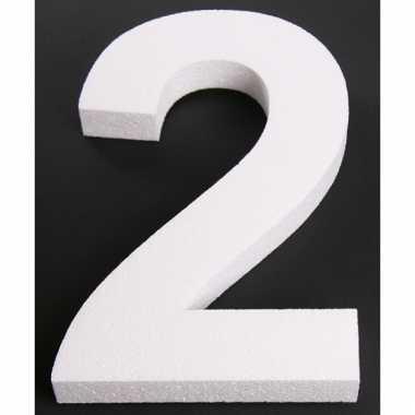 Piepschuimen cijfer 2 25 cm