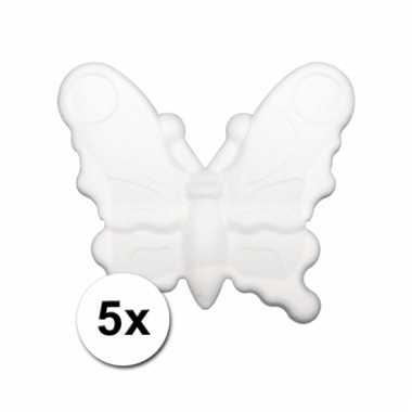Piepschuimen vlinder 5x 12,5 cm