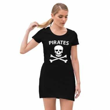 Piraten carnavalsjurkje / jurk zwart voor dames