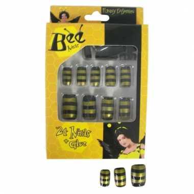 Plaknagels zwart met geel