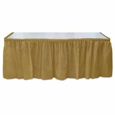Plastic gouden tafelrok