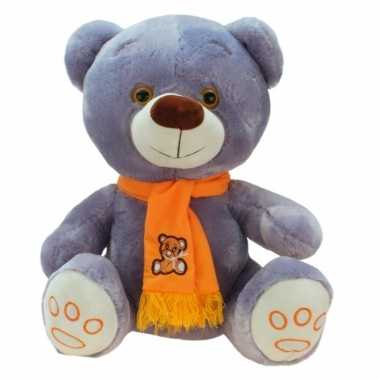 Pluche knuffelbeer knuffels wit 100 cm