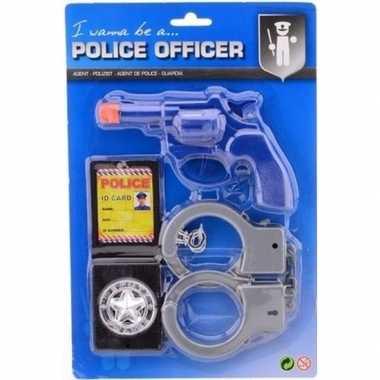 Politieset verkleed accessoire voor kinderen