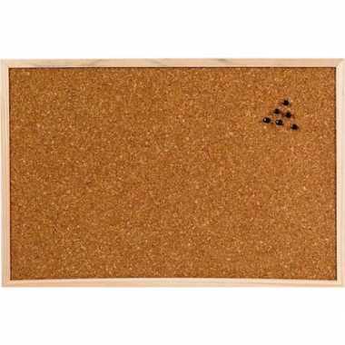 Prikbord/memobord naturel kurk 60 x 45 cm