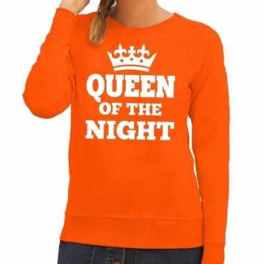 Queen of the night sweater oranje dames