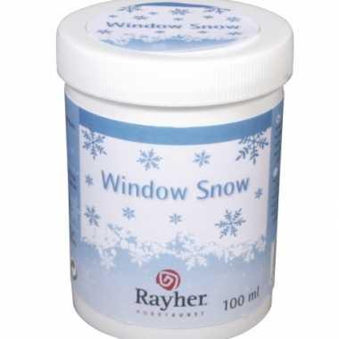 Raamdecoratie sneeuwgel