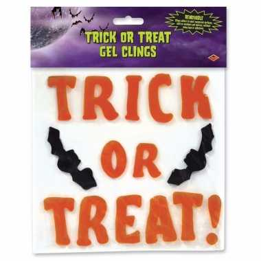 Raamsticker trick or treat