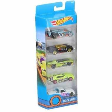 Race auto set 5 stuks