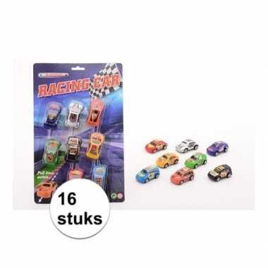 Race auto setje van 16 stuks