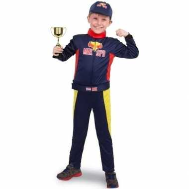 Race/formule 1 jumpsuit met trofee voor jongens