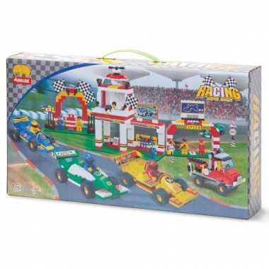 Race parcours bouwstenen set