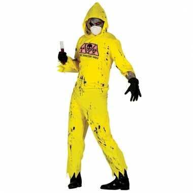Radioactieve zombie verkleedpak voor heren