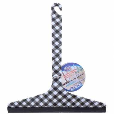 Ramentrekker zwart/wit geruit 22,5 cm