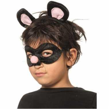 Rat oogmasker met diadeem voor kids