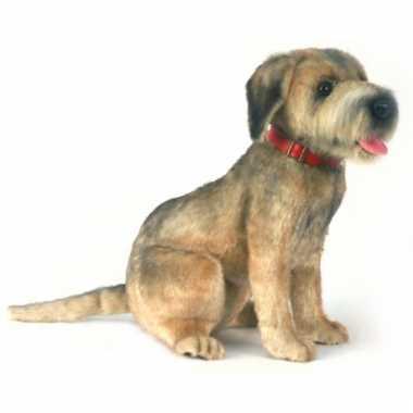 Realischtische pluche borderterrier hond 44 cm