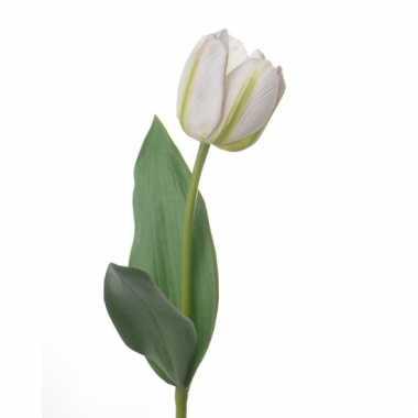 Realistische witte tulp 48 cm
