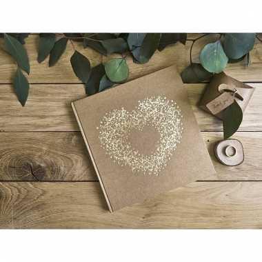 Receptie gastenboek met gouden hart