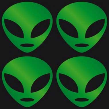 Reflectie stickers groen alien