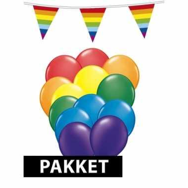 Regenboog decoratiepakket groot