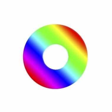 Regenboog feest contactlenzen