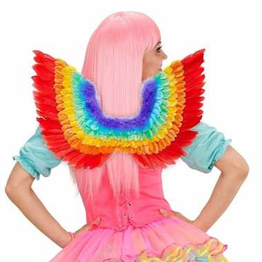 Regenboog gekleurde vleugels