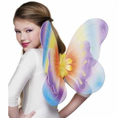 Regenboog vlindervleugels voor meisjes