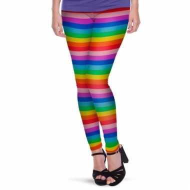 Regenboogprint legging voor dames