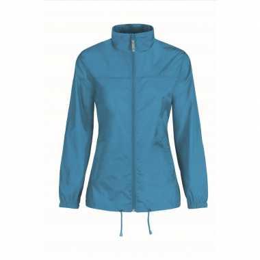 Regenjack voor dames aquablauw