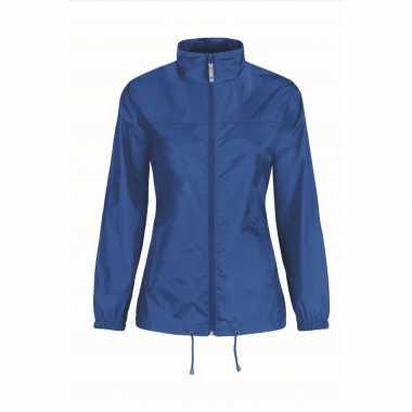 Regenjack voor dames kobaltblauw
