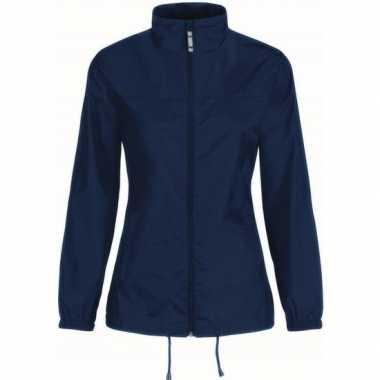 Regenjack voor dames marineblauw