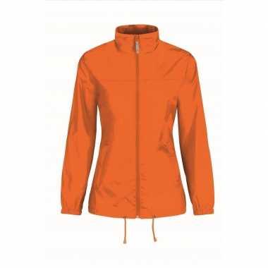 Regenjack voor dames oranje