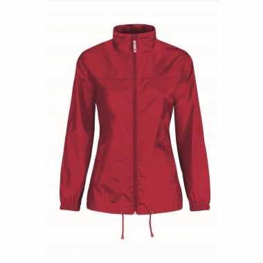 Regenjack voor dames rood