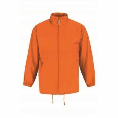 Regenjack voor heren oranje