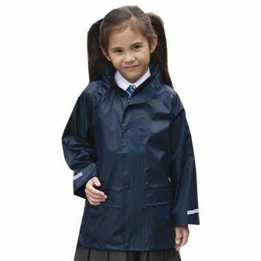 Regenjassen navy blauw voor meisjes