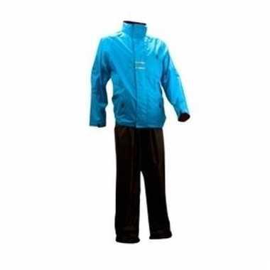 Regenkleding blauw/zwart volwassenen