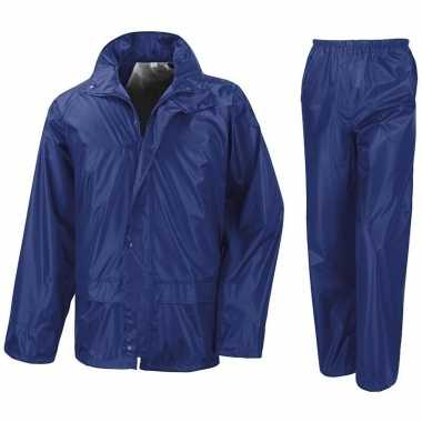 Regenpakken kobalt blauw voor meisjes